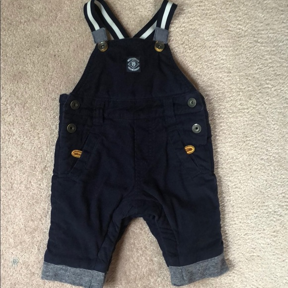 Timberland infant lined cord overalls